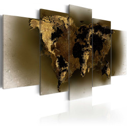 Tablou - Brass continents