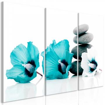 Tablou - Calm Mallow (3 Parts) Turquoise