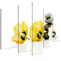 Tablou - Calm Mallow (5 Parts) Wide Yellow