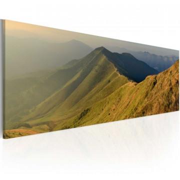 Tablou - Canvas print - Mountains at sunset