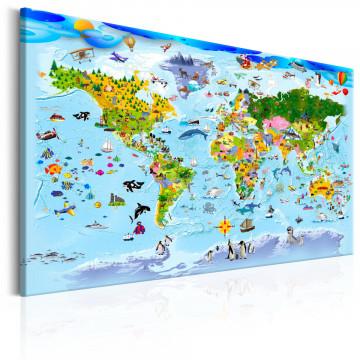 Tablou - Children's Map: Colourful Travels