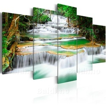 Tablou - Deep forest Waterfall in Kanchanaburi, Thailand