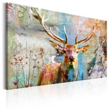 Tablou - Deer on Wood