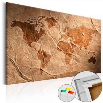 Tablou din plută - Paper Map [Cork Map]