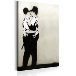 Tablou - Kissing Coppers by Banksy