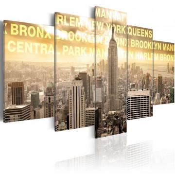 Tablou - Manhattan, Queens, Bronx, Central Park ...