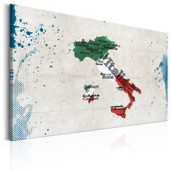 Tablou - Map: Italy