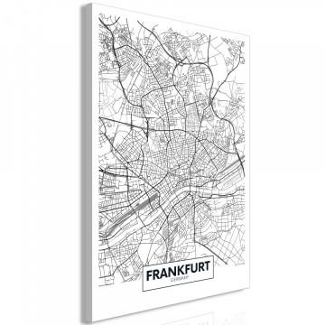 Tablou - Map of Frankfurt (1 Part) Vertical