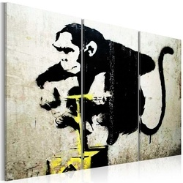 Tablou - Monkey TNT Detonator by Banksy