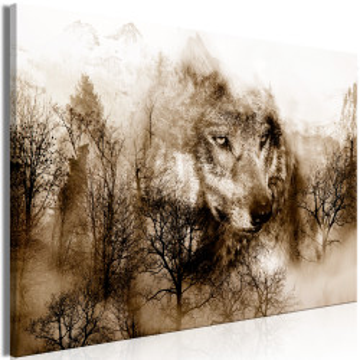 Tablou - Mountain Predator (1 Part) Wide Brown