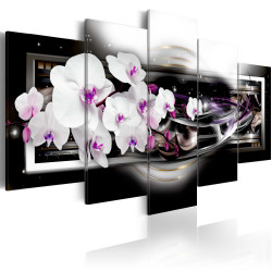 Tablou - Orchids on a black background