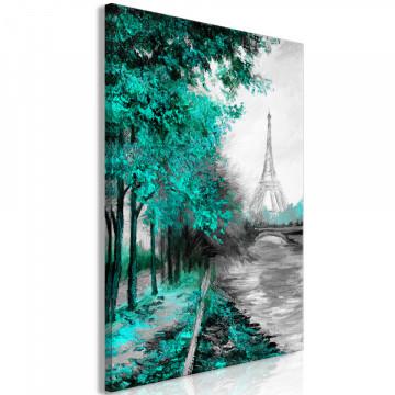 Tablou - Paris Channel (1 Part) Vertical Green