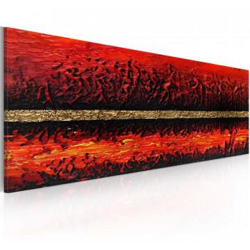 Tablou pictat manual - Volcano eruption