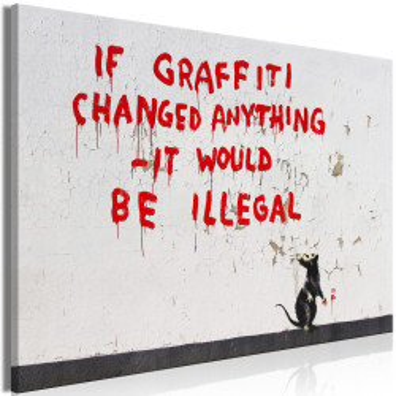 Tablou - Quotes Graffiti (1 Part) Wide