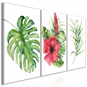 Tablou - Red Hibiscus (3 Parts)