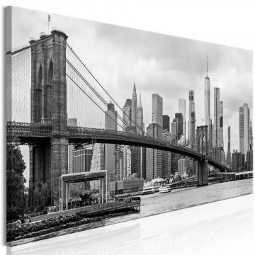 Tablou - Road to Manhattan (1 Part) Narrow Black and White