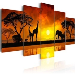 Tablou - Savanna - sunset