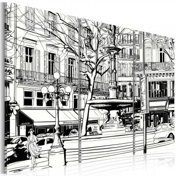 Tablou - Sketch of Parisian square