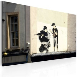 Tablou - Sniper and boy (Banksy)