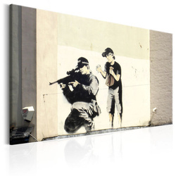 Tablou - Sniper and Child by Banksy