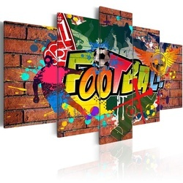 Tablou - soccer (graffiti)