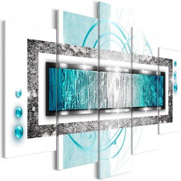 Tablou - Turquoise blizzard (5 Parts) Wide