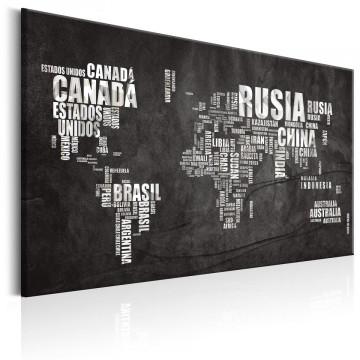 Tablou - World Map: Mundo Negro