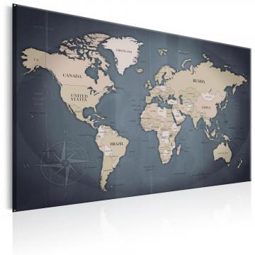 Tablou - World Map: Shades of Grey