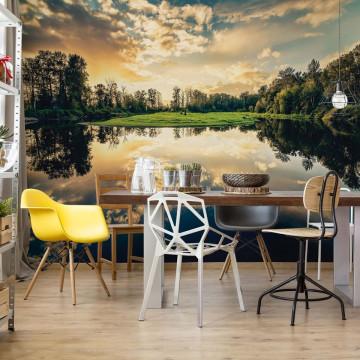 Tranquil Lake Photo Wallpaper Wall Mural