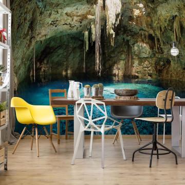 Underground Lake Grotto Photo Wallpaper Wall Mural