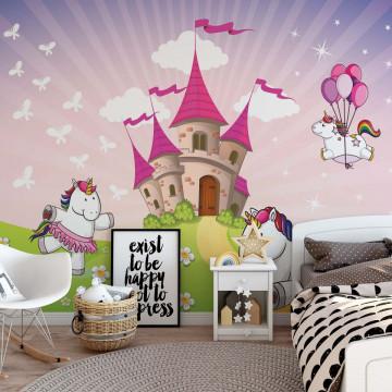 Unicorn Castle Photo Wallpaper Wall Mural