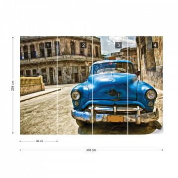 Vintage Car Cuba Havana Photo Wallpaper Wall Mural