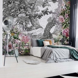 Vintage Floral Design Photo Wallpaper Wall Mural