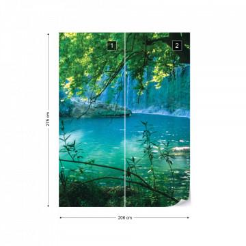 Waterfall Lagoon Forest Photo Wallpaper Wall Mural