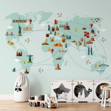 World Map Big Sights