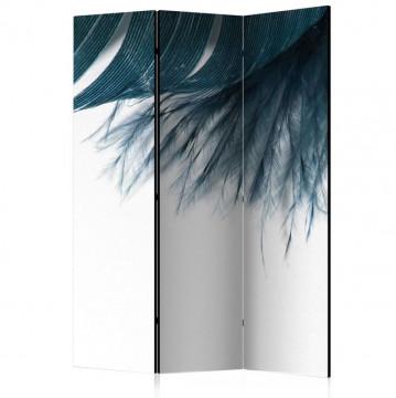Paravan - Dark Blue Feather [Room Dividers]