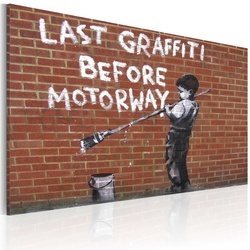 Tablou - Last graffiti before motorway (Banksy)