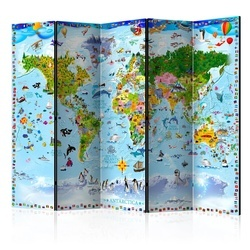 Paravan - World Map for Kids II [Room Dividers]