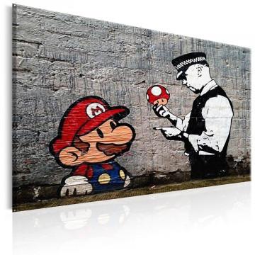 Tablou - Mario and Cop by Banksy