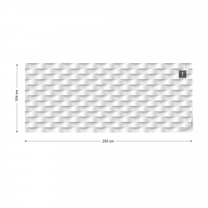 3D Grey And White Pattern Photo Wallpaper Wall Mural