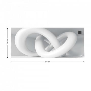 3D Loop Modern Photo Wallpaper Wall Mural