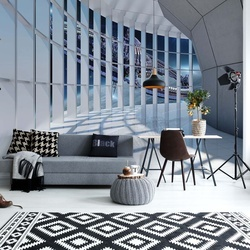 Spaceship 3D Modern Architecture View Photo Wallpaper Wall Mural