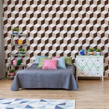 Geometric 3D Pattern Photo Wallpaper Wall Mural