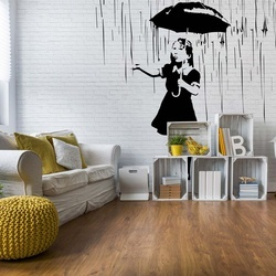 Banksy Graffiti Photo Wallpaper Wall Mural