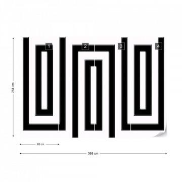 Black And White Geometric Pattern Photo Wallpaper Wall Mural