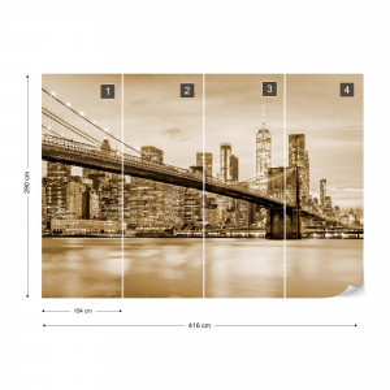 Brooklyn Bridge NYC in Sepia