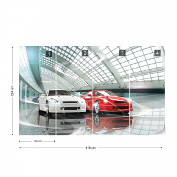 Cars Photo Wallpaper Wall Mural