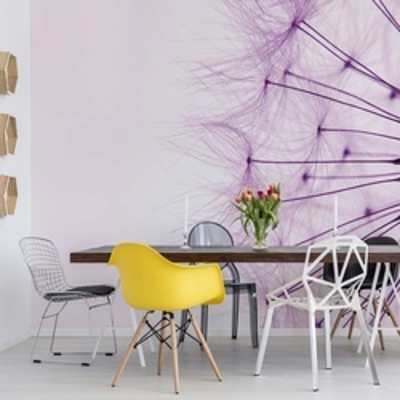 Dandelion Pink Photo Wallpaper Wall Mural