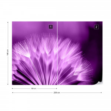 Dandelion Purple Photo Wallpaper Wall Mural