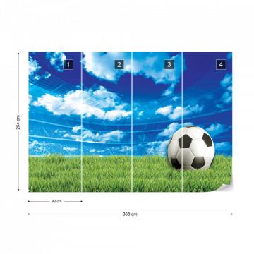 Football Stadium Blue Sky Photo Wallpaper Wall Mural